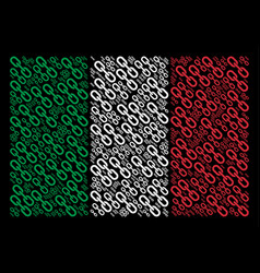 italy flag collage of chain icons vector image