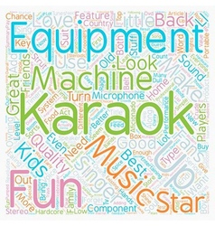 Karaoke Equipment text background wordcloud vector
