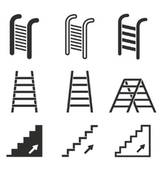 Ladder icon set vector
