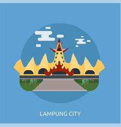 Lampung city conceptual design vector