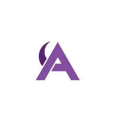 Letter logo a purple symbol design element vector