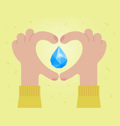 Love water save water concept vector
