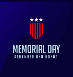 Memorial day template design vector