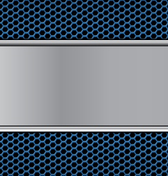 metal texture on blue vector image