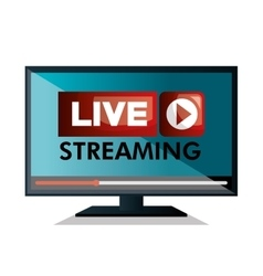 monitor pc live streaming design graphic vector image