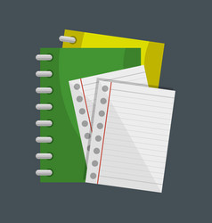 Notebook school supply icon vector