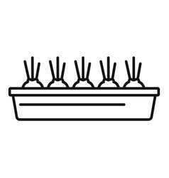 onion ground pot icon outline style vector image