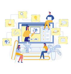 Online teacher professional home learn education vector