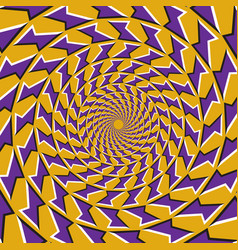 Optical purple shapes fly apart vector