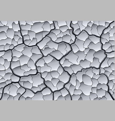 Parched cracked clay with layered depth cracks vector