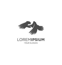 pigeon bird silhouette vector image