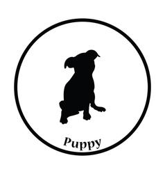 Puppy icon vector image