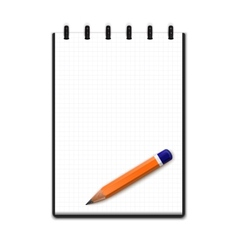 Realistic blank notepad with pencil vector image