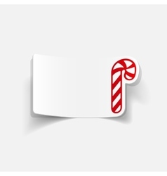 realistic design element candy cane vector image