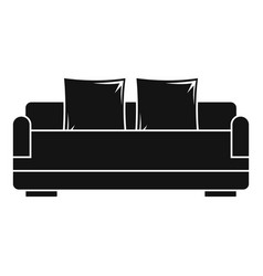 relax sofa icon simple style vector image