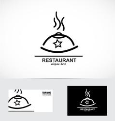 Restaurant dish logo vector