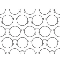 Round eyeglasses pattern vector