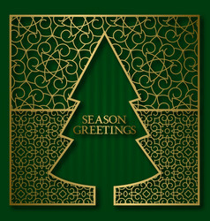 season greetings card cover background vector image