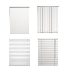 Set isolated blinds or window louver vector