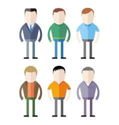 set male fashion silhouettes vector image