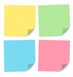 set note papers different colors vector image