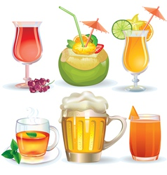 Set of drinks vector image