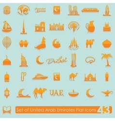 Set of United Arab Emirates icons vector
