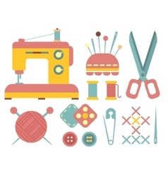 Sewing and Handicraft Accessories vector