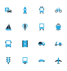 shipment colorful icons set collection of missile vector image