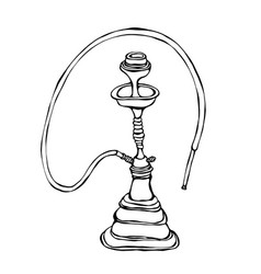 Shisha bong hooka hookah with smoking pipe vector