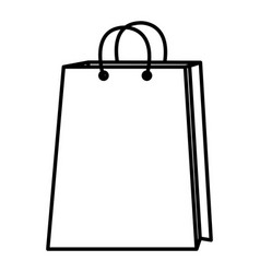 Shopping paper bag icon vector