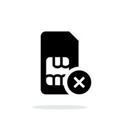 SIM card with cancel sign simple icon on white vector