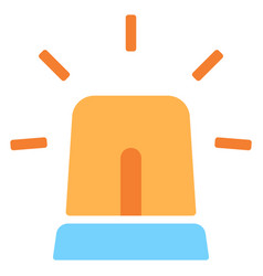 siren warning flat icon vector image