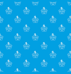 Social protest riot pattern seamless blue vector