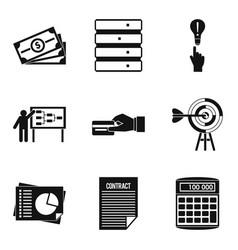 Special terminology icons set simple style vector