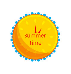 Sun and water in the form of a clock icon vector