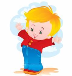 The joyful child vector
