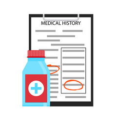 treatment by medical history vector image
