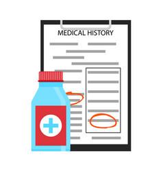 Treatment medical history vector