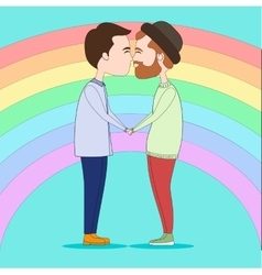 Two kissing gays vector