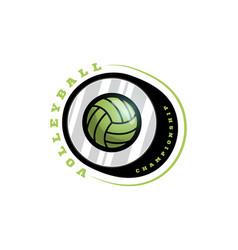 volleyball circular logo modern professional vector image