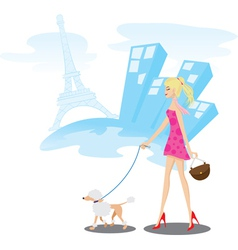 Walk paris vector