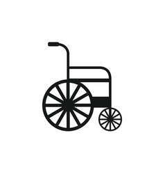 Wheelchair icon in on white background vector