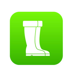 winter shoes icon digital green vector image