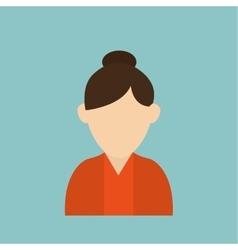 woman icon design vector image