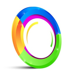 Colorful Circle Shape Isolated on White Background vector image vector image