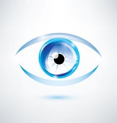 human blue eye abstract shape vector image vector image