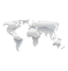 liquid metal world map vector image