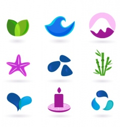 wellness relaxation and medical icons vector image