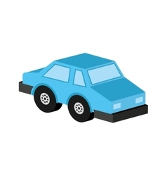 car sedan blue icon design vector image